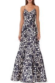 Ml Monique Lhuillier Sleeveless Floral Gown - Product Mini Image