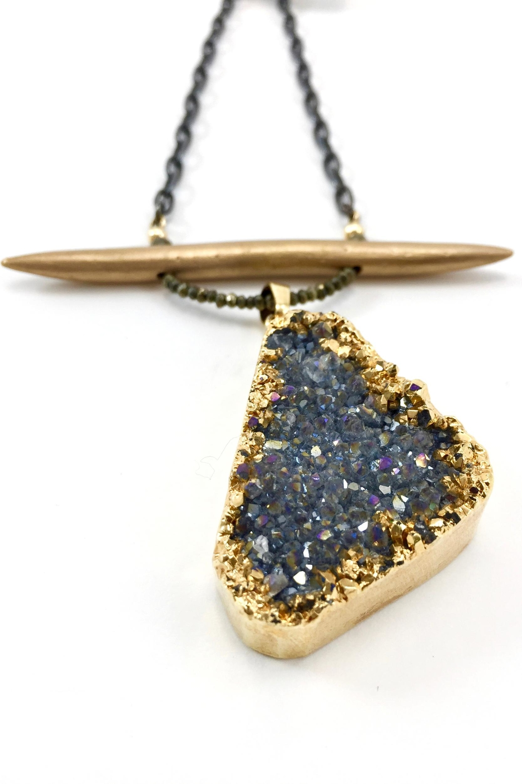Maria Lightfoot Druzy Bronze Necklace - Main Image