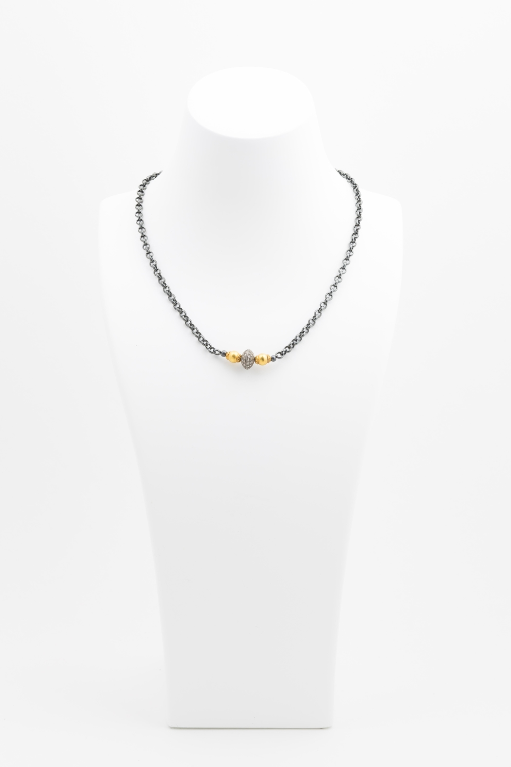 Maria Lightfoot Pave Bead Necklace - Front Full Image