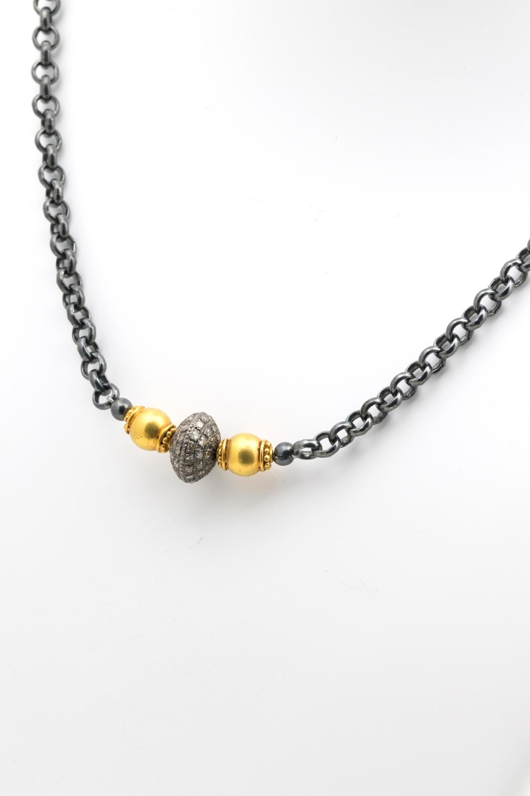Maria Lightfoot Pave Bead Necklace - Main Image