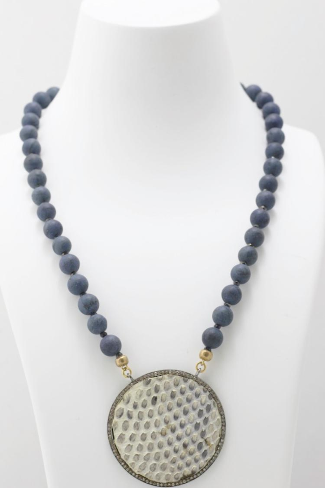 Maria Lightfoot Python Disc Necklace - Front Full Image