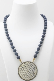 Maria Lightfoot Python Disc Necklace - Front full body