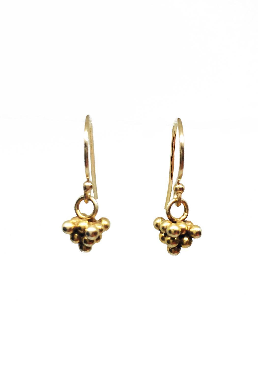 mlj 422e tiny gold earrings from carolina by sweet