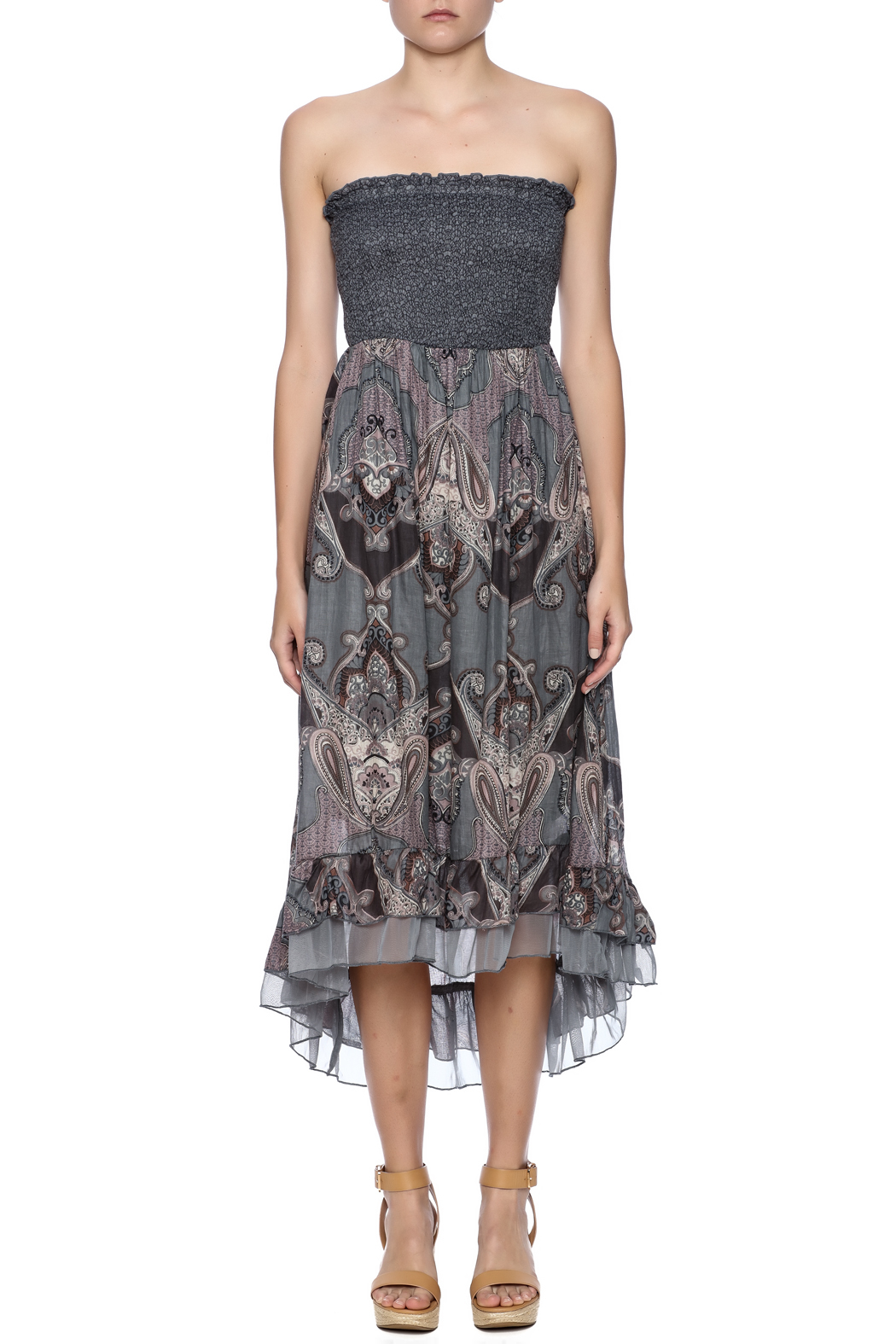 Mlle Gabrielle Strapless High Low - Front Cropped Image