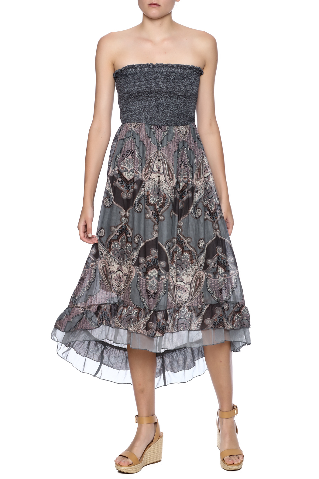 Mlle Gabrielle Strapless High Low - Main Image