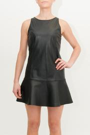 MLM The Label Dropwaist Leather Dress - Back cropped