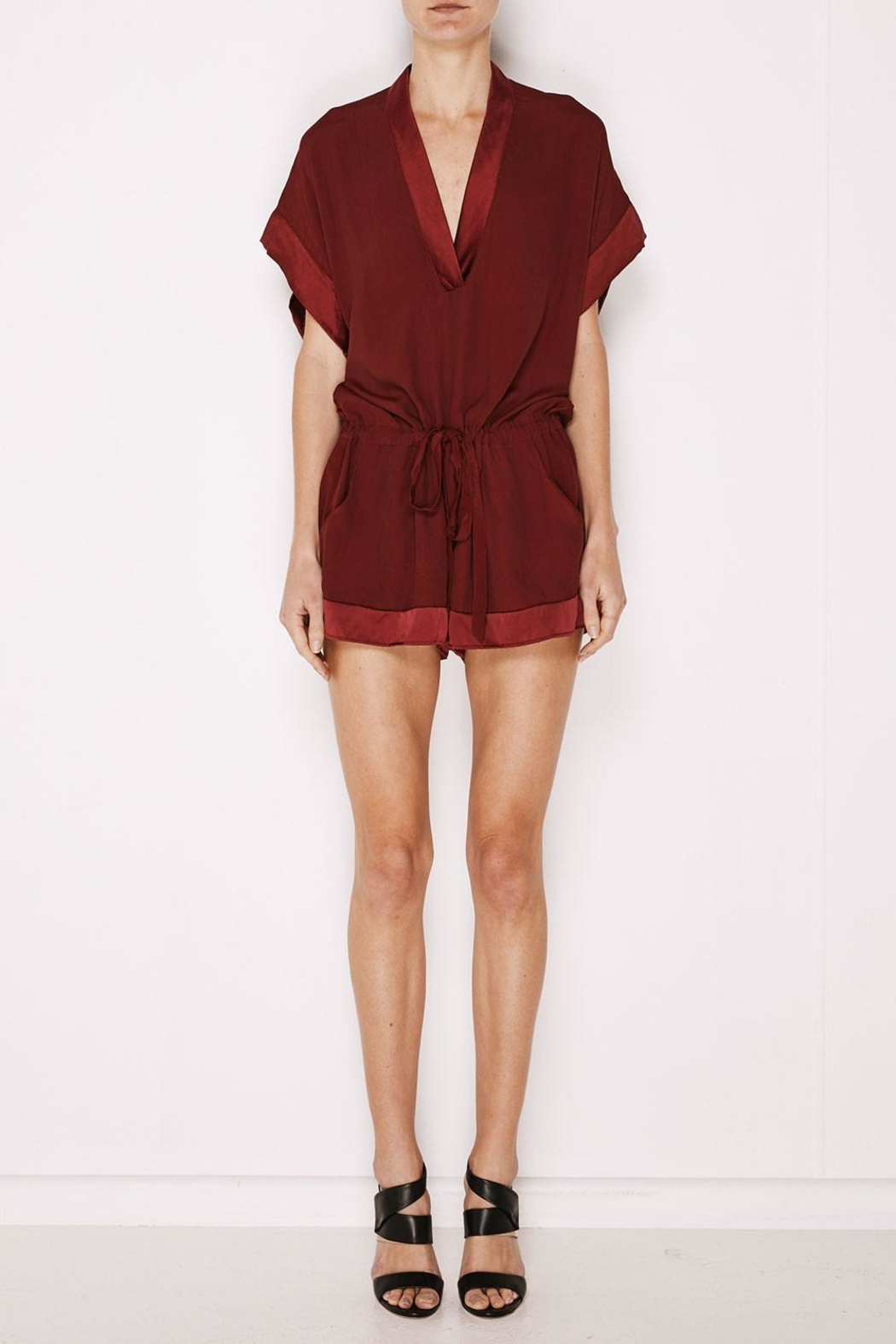 MLM The Label Mali Romper Plum - Main Image