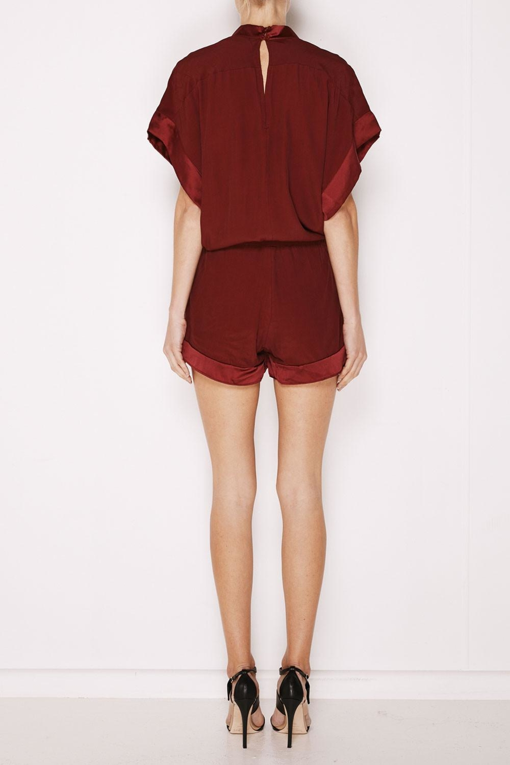 MLM The Label Mali Romper Plum - Front Full Image