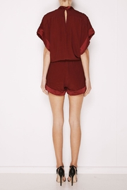 MLM The Label Mali Romper Plum - Front full body