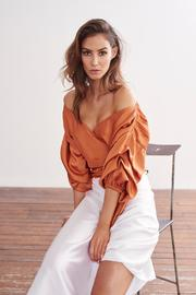 MLM The Label Salo Wrap Shirt - Front full body