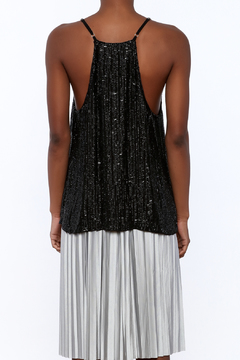 Shoptiques Product: Black Sleeveless Sequin Top