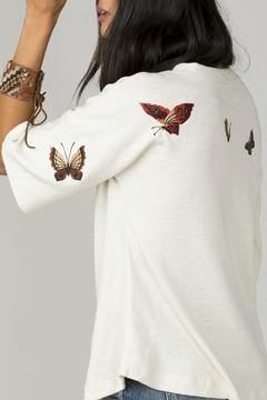 MM Vintage Butterfly Embroidered Top - Alternate List Image