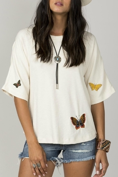 MM Vintage Butterfly Embroidered Top - Product List Image