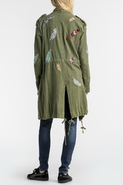 MM Vintage Feather Embroidered Olive Jacket - Front full body