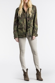 MM Vintage Floral-Embroidered Camo Military-Jacket - Front full body