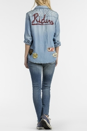 MM Vintage Vintage-Patched Chambray Shirt - Side cropped