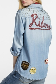 MM Vintage Vintage-Patched Chambray Shirt - Front full body