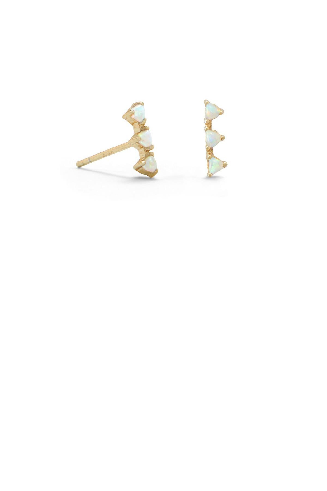 MMA Silver 14k Opal Studs - Front Cropped Image