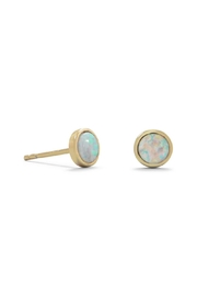 MMA Silver 14k Opal Studs - Front cropped