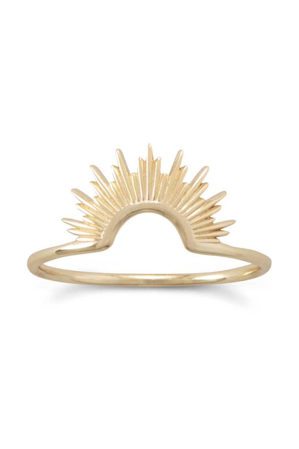 MMA Silver 14k Starburst Ring - Front Cropped Image