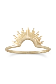 MMA Silver 14k Starburst Ring - Front cropped