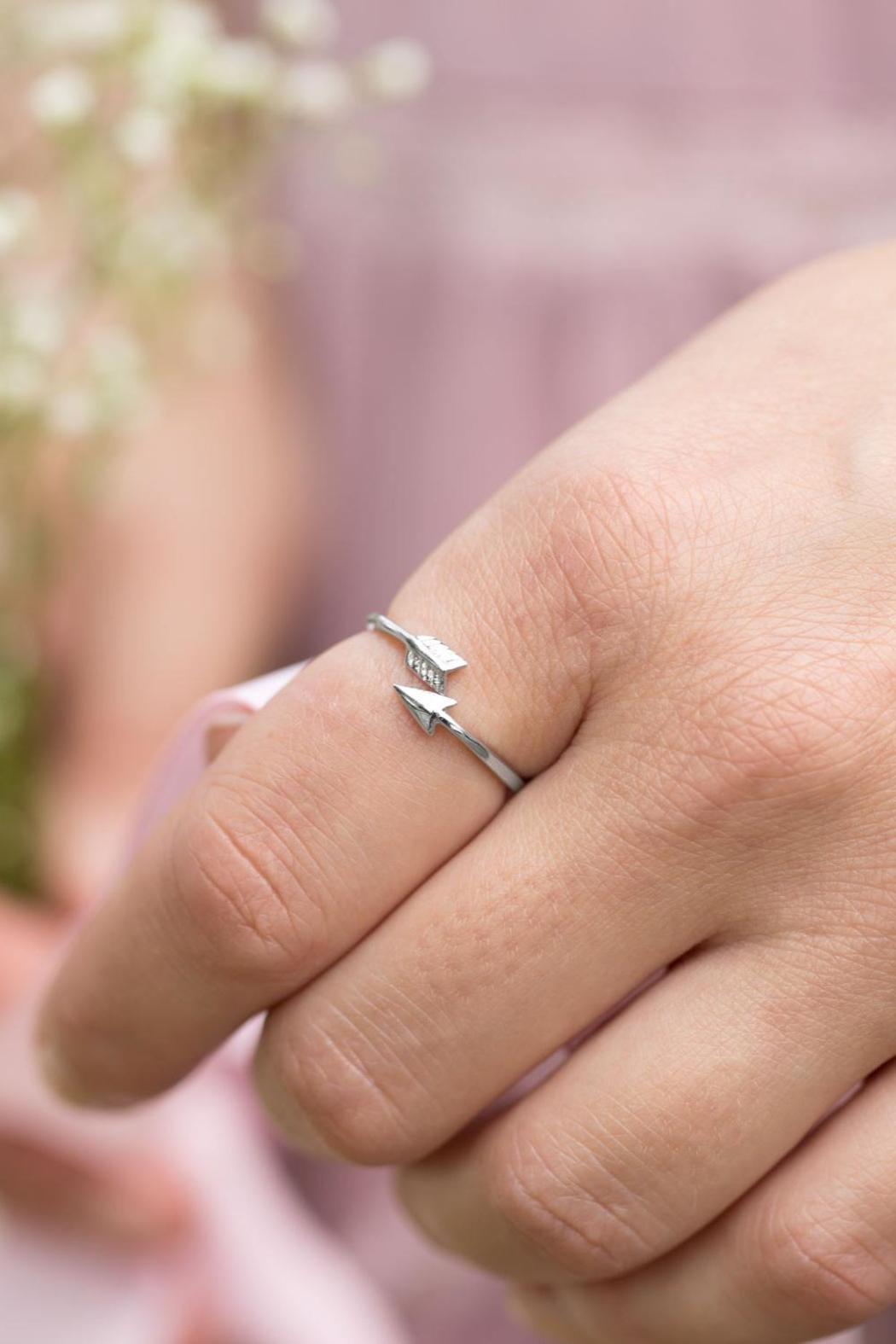 MMA Silver Aim High Ring - Front Full Image