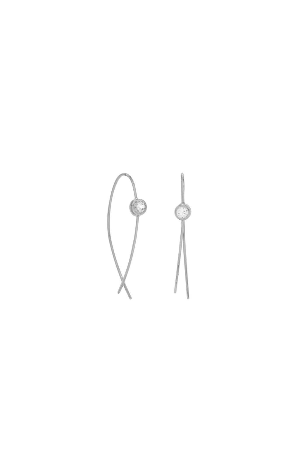 MMA Silver Allison Earrings - Main Image