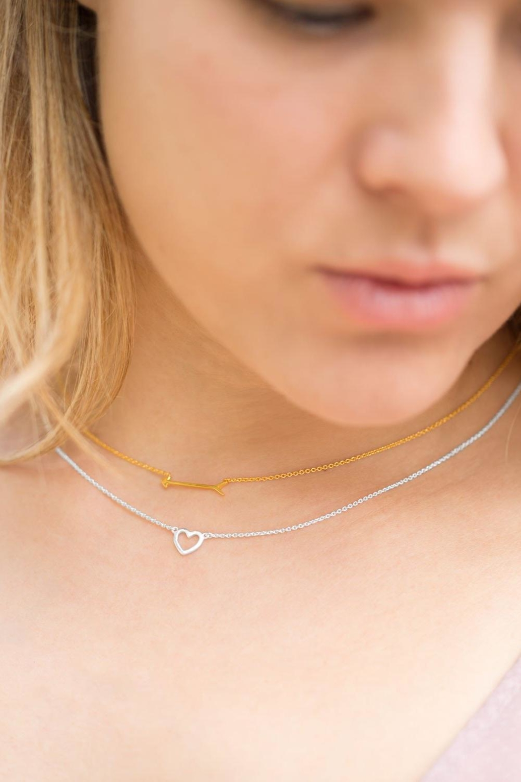 MMA Silver Arrow Necklace - Front Full Image