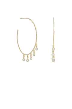 Shoptiques Product: Dangling Cz Hoops