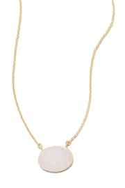 MMA Silver Ellie Druzy Necklace - Front cropped