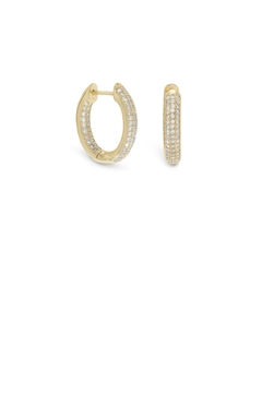 MMA Silver In/out Hoop Earrings - Product List Image