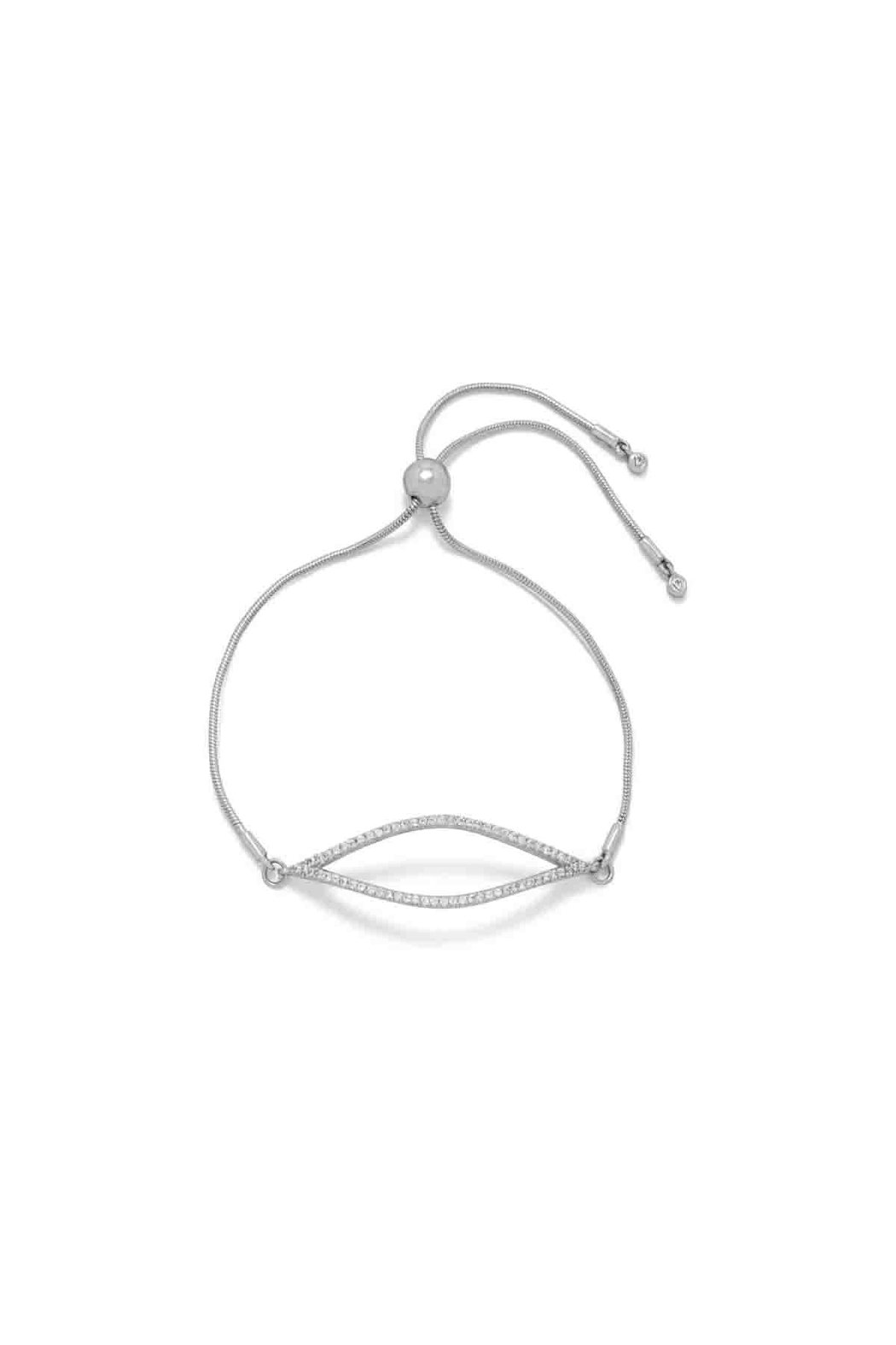 MMA Silver Marquise Bolo Bracelet - Main Image