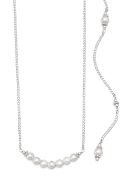 MMA Silver Megan Pearl Pendant - Front cropped