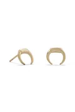 MMA Silver Mini Cresent Earrings - Product List Image