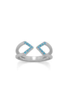 MMA Silver Nano Turquoise Ring - Product List Image