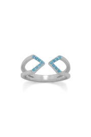 MMA Silver Nano Turquoise Ring - Product Mini Image