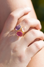 MMA Silver Natural Gem Ring - Front full body