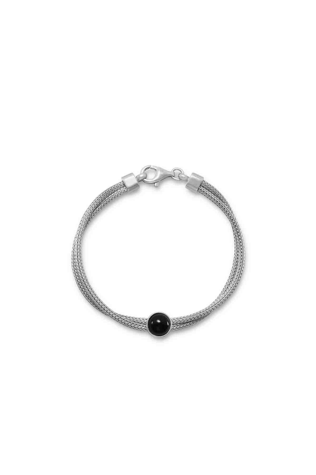 MMA Silver Onyx Bracelet - Front Cropped Image
