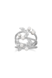 MMA Silver Pearl Leaf Ring - Product Mini Image
