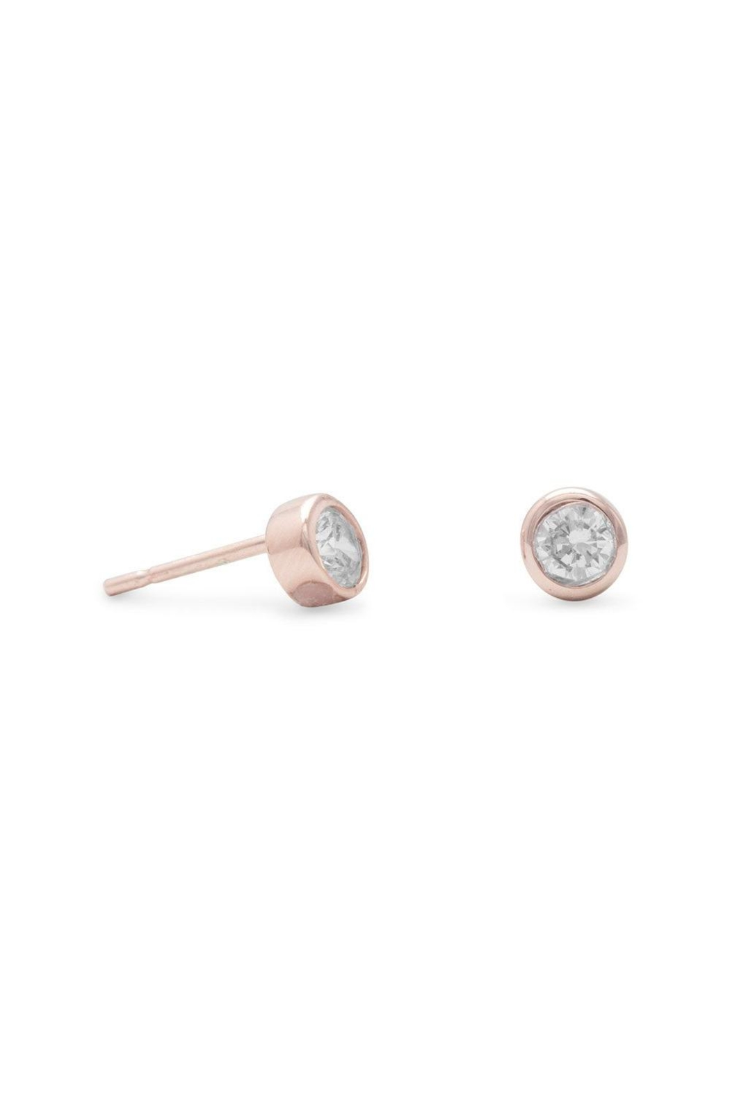 MMA Silver Rose Gold Studs - Main Image