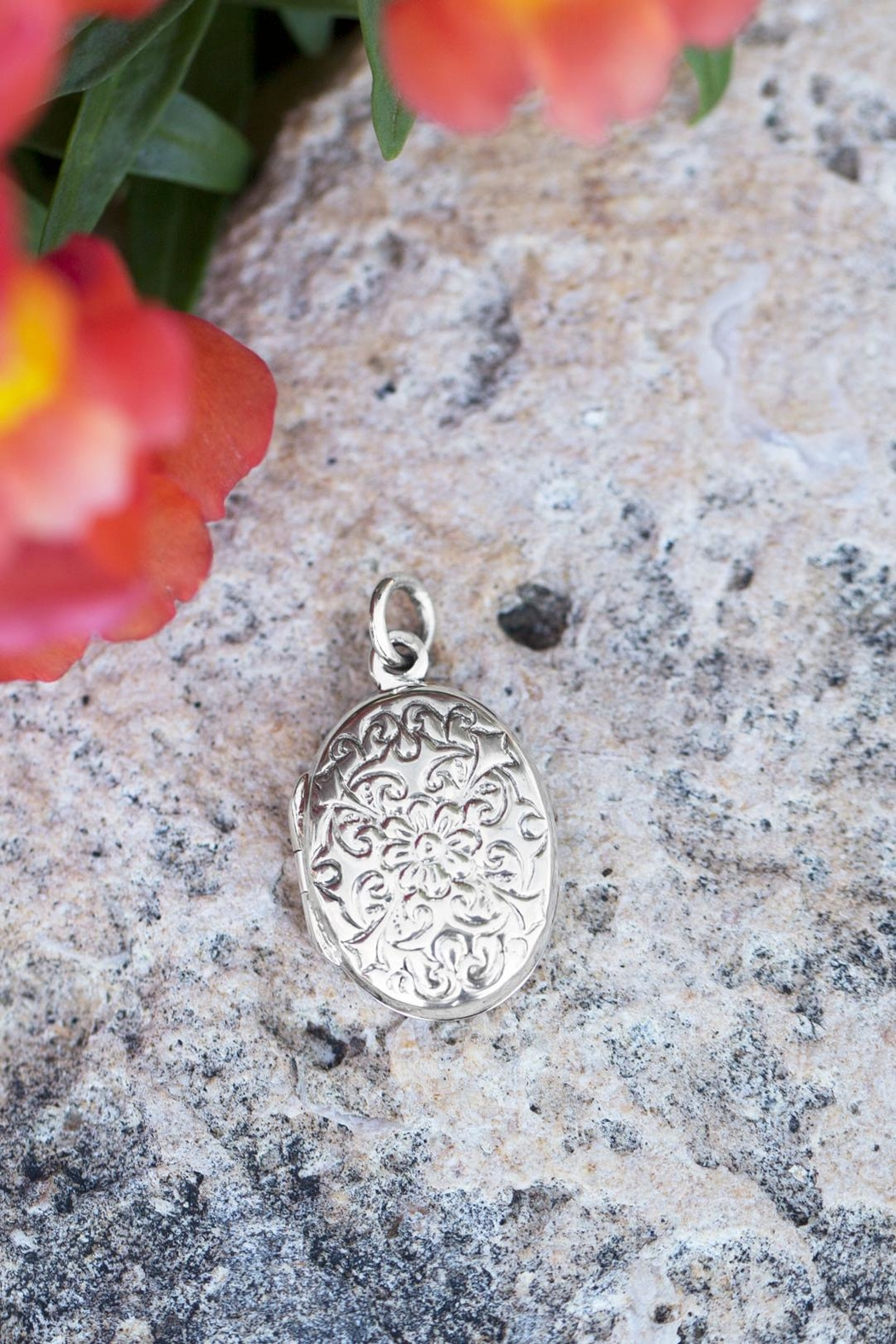 MMA Silver Sterling Engraved Locket - Front Full Image