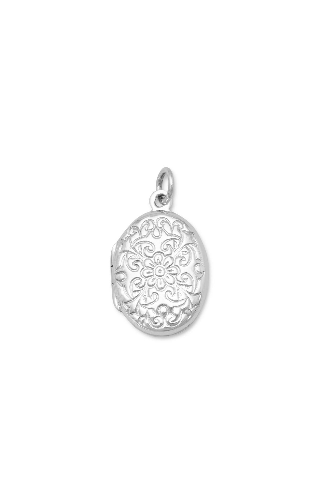 MMA Silver Sterling Engraved Locket - Main Image