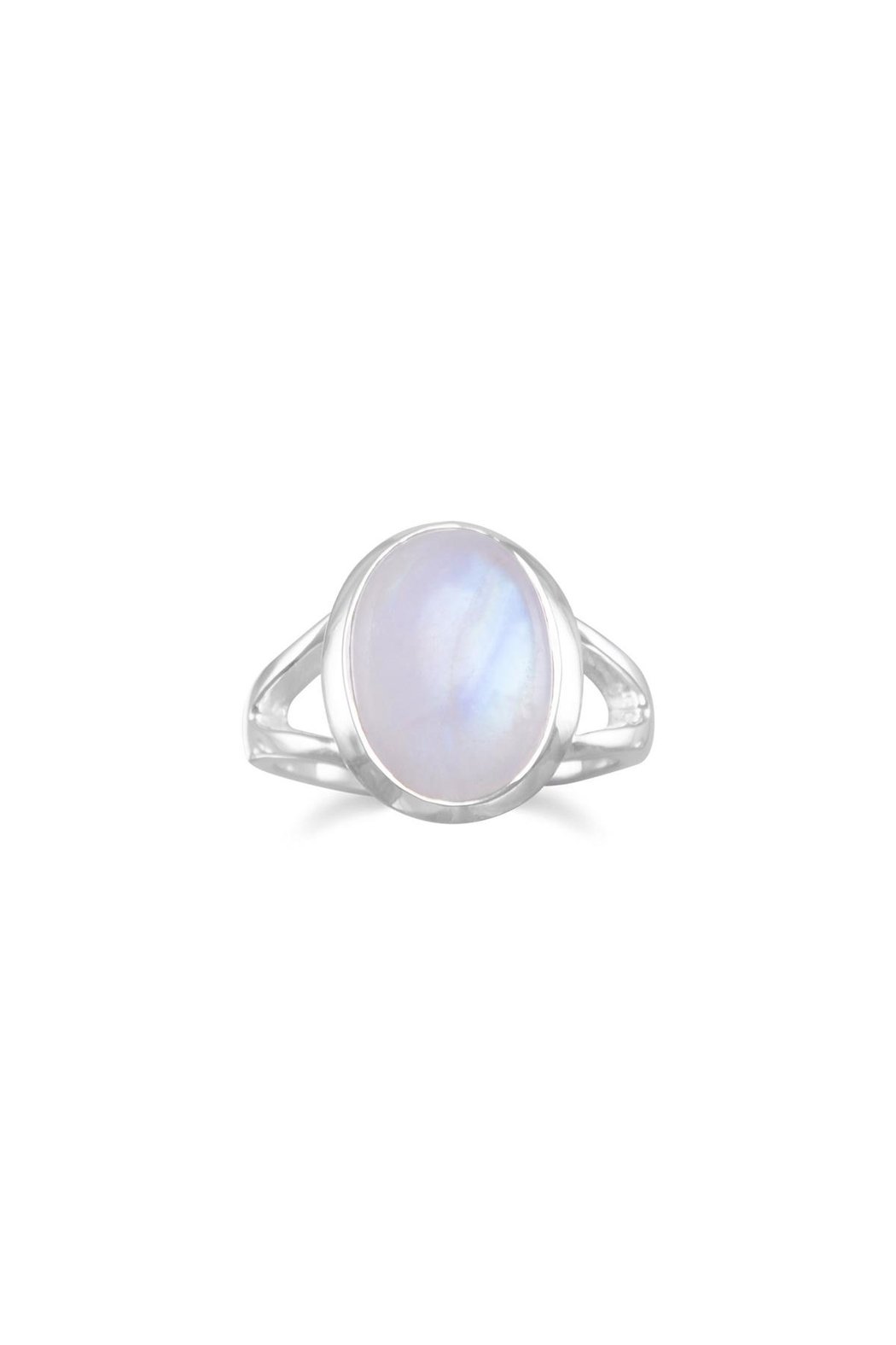 MMA Silver Sterling Moonstone Ring - Main Image