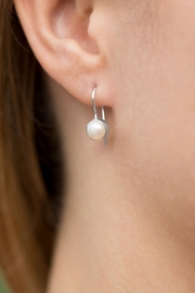 MMA Silver Sterling Pearl Earrings - Product Mini Image