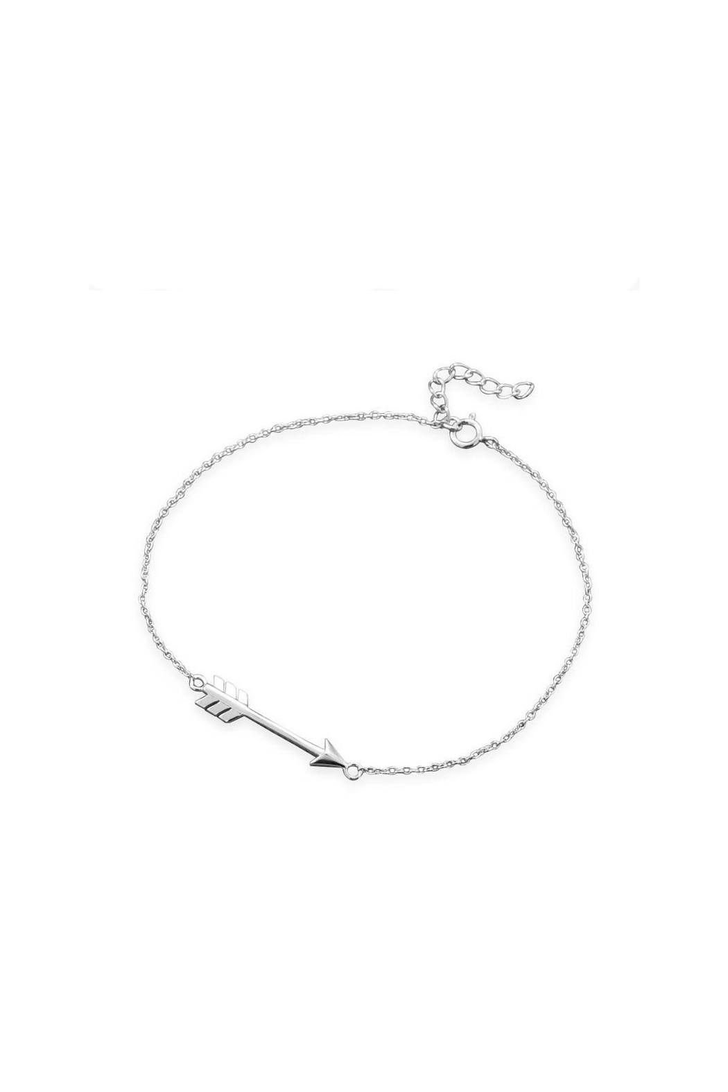 MMA Silver Sterling-Silver Arrow Bracelet - Front Cropped Image