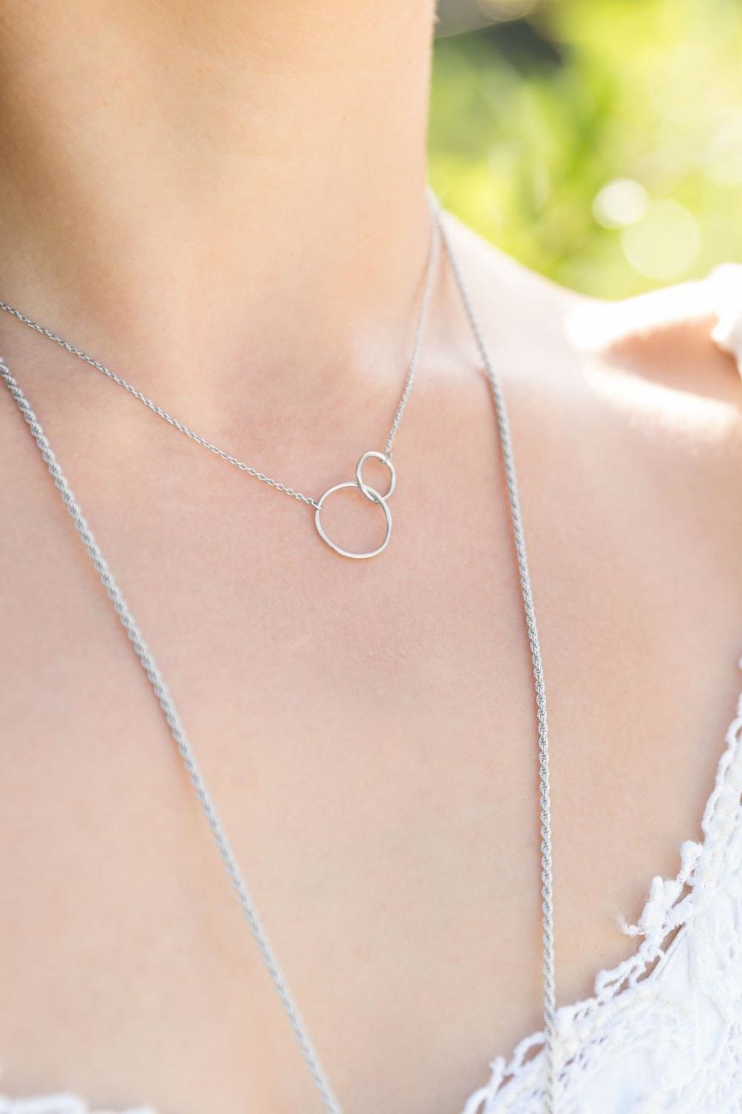 MMA Silver Sterling-Silver Circle Necklace - Front Full Image