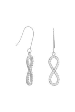 MMA Silver Sterling-Silver Infinity Earrings - Alternate List Image