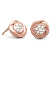 MMA Silver Rose Gold Tegan Stud - Product List Image