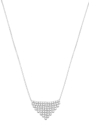 MMA Silver V Sparkle Necklace - Product Mini Image