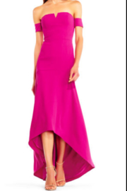 Aidan Mattox MN1E201301 - Crepe High Low Gown - Front cropped